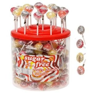 200 x Sugar Free Fruity Lolly Vitamin C - Simpkins Sweets Lollies Wholesale Bulk Buy Tub